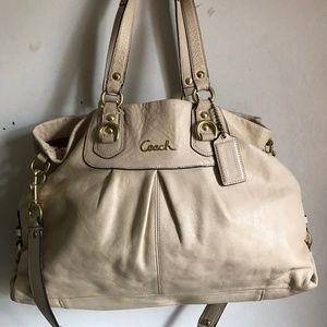 Coach shoulder bag - Cream Leather